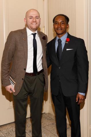 2019 FWAA President Matt Fortuna and Eddie Robinson III. (Photo by Melissa Macatee)
