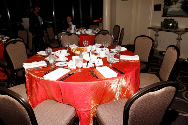 Table setting at the Past Presidents Dinner. (Photo by Melissa Macatee)