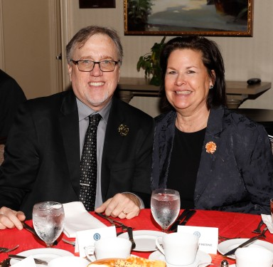 Chris Dufresne, president of the FWAA in 2013, and his wife, Sheila. (Photo by Melissa Macatee)