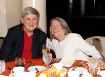 Dick Weiss, president of the FWAA in 2004, and his wife, Joan Williamson. (Photo by Melissa Macatee)