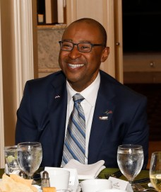 Brian Brantley of the Rose Bowl, sponsor of dinner. (Photo by Melissa Macatee)