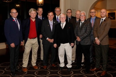 Eleven former presidents of the FWAA attended the dinner. (Photo by Melissa Macatee)